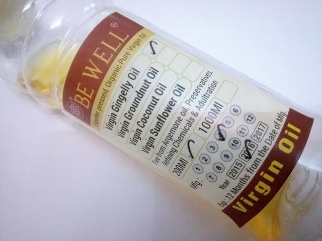 Be Well Virgin Gingelly Oil