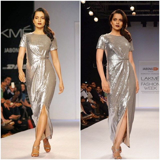 Kangana Ranaut in silver dress, Bollywood Actress, Bollywood Actress in Silver Dress