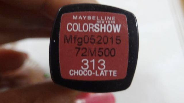 Maybelline Color Show Lipstick Choco Latte shade