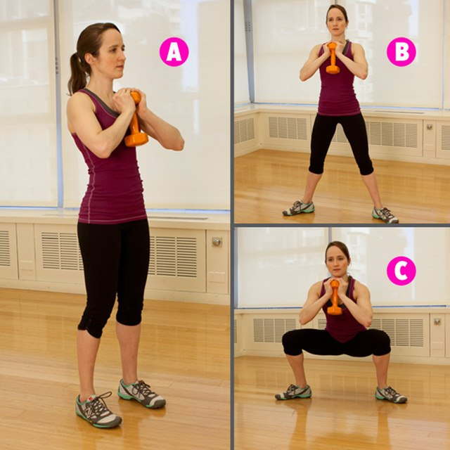 Step-out goblet squat, Sculpt Butt and Legs