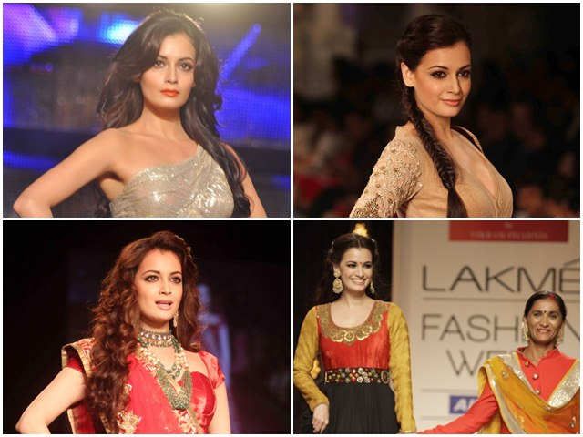 When Dia Mirza Created Magic on The Ramp with Her Ethereal Looks
