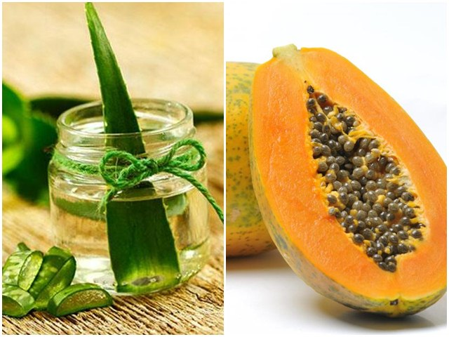 Aloe vera and papaya cleanser, natural facial cleanser