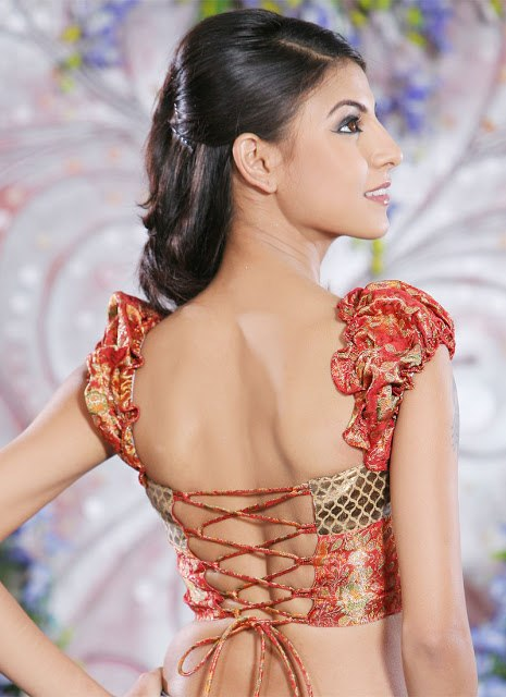 Criss-cross Back, Trendy Blouse Designs