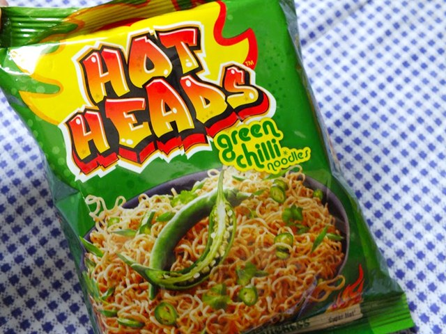 Maggi Hot heads Green Chilli Noodles, Maggi Hot heads, Maggi