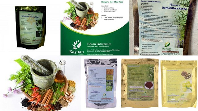 Ishaan Enterprises Rayaan Herbals, All Natural Face Packs