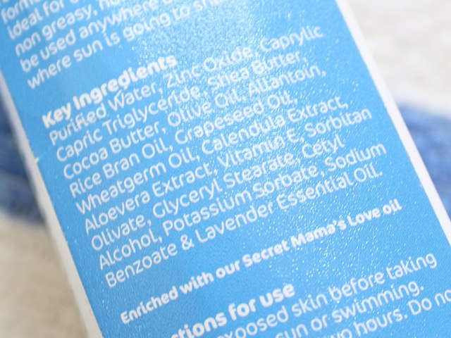 Mamaearth Mineral Based Sunscreen For Babies ingredients, Mamaearth, Sunscreen For Babies