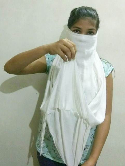 Eye disclosing way of wearing scarf 4, how to wear a scarf