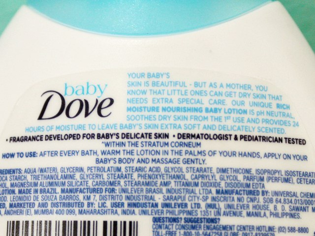 Baby Dove Rich Moisture Nourishing Baby Lotion direction for use, Baby Dove Lotion, Baby Dove, Baby Lotion