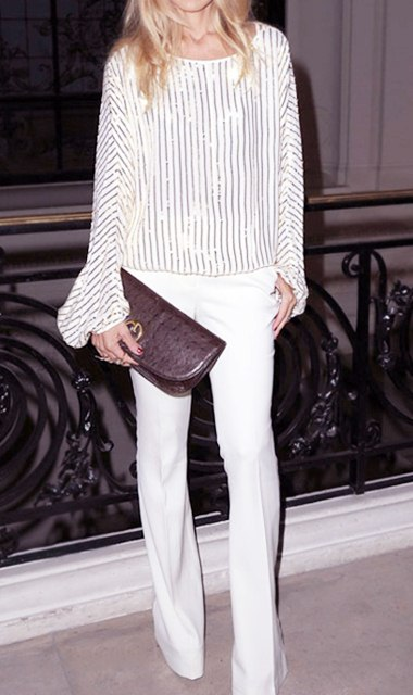 White Denim and Metallic, How to Style White Denim