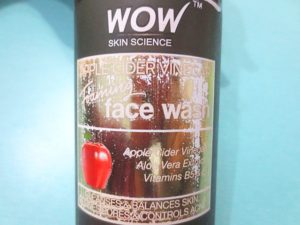 WOW Skin Science Apple Cider Vinegar Foaming Face Wash packaging