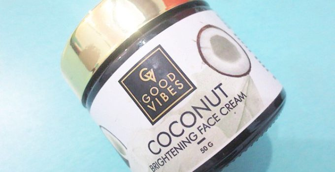 Good Vibes Coconut Brightening Face Cream Review