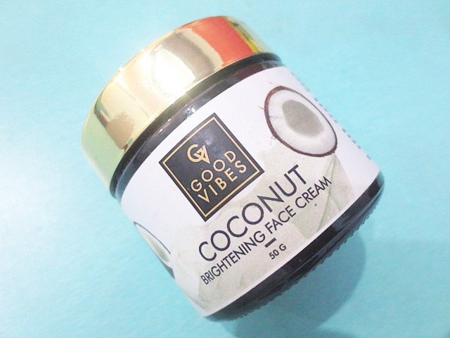 Good Vibes Coconut Brightening Face Cream Review, Good Vibes Coconut Brightening Face Cream, Good Vibes Face Cream, Skin brightening face cream, Skin brightening face cream for dry skin, Face cream, Natural face cream