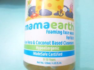 Mamaearth Foaming Face Wash for Kids packaging