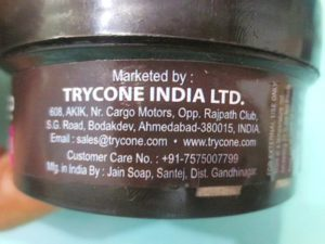 Trycone Charcoal Face Scrub details