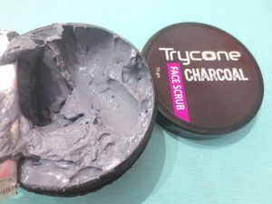 Trycone Charcoal Face Scrub opening